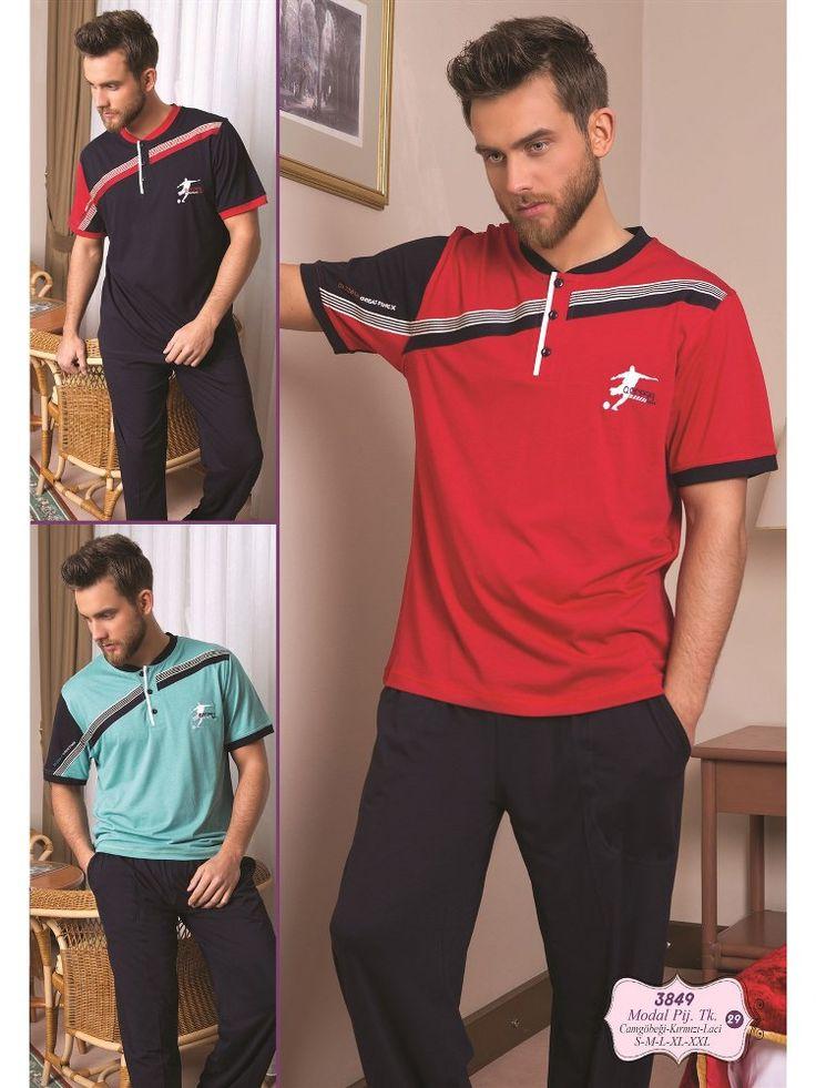 Bone 3849 Erkek Pijama Takım; Penye kumaştan üretilen erkek pijama takım modelidir.
