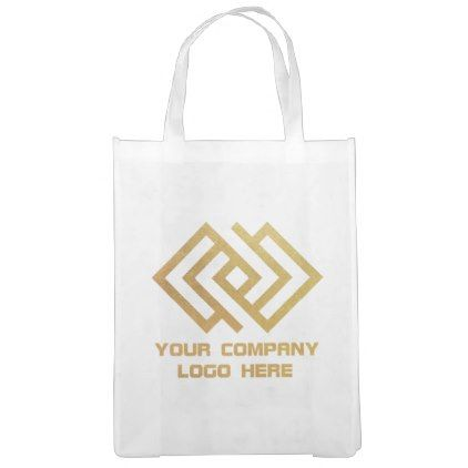 Your Company Logo Reusable Tote Bag White - business logo cyo personalize customize diy special