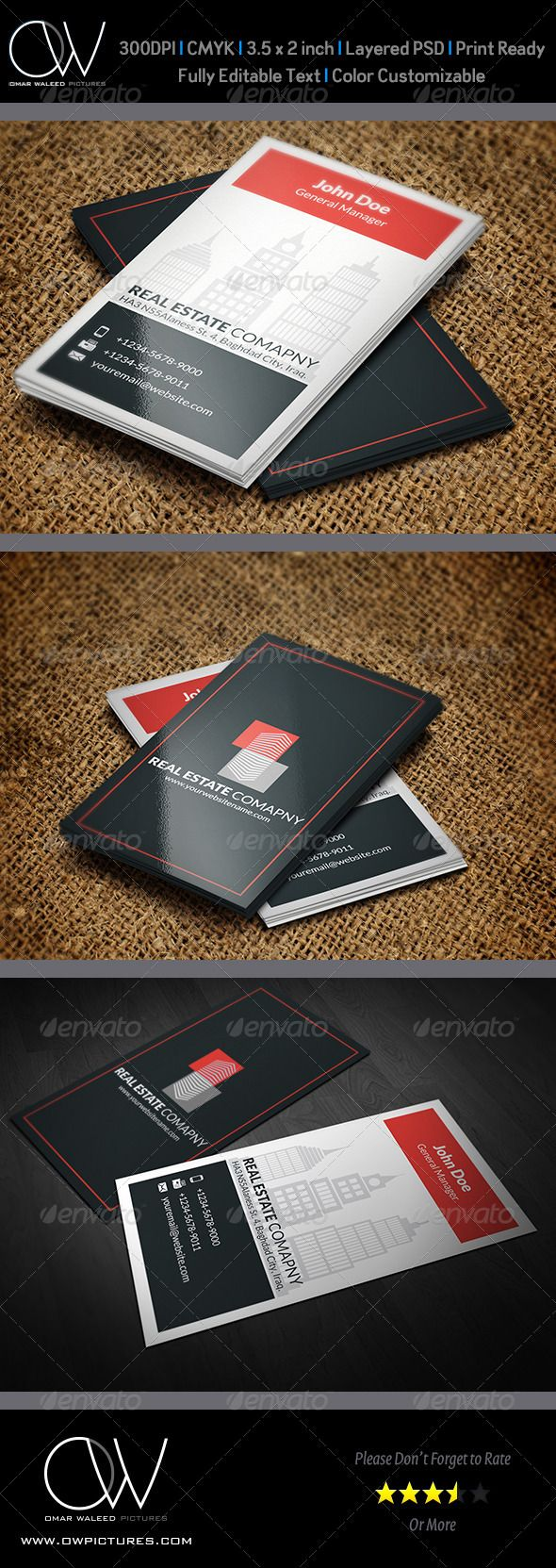 107 best real estate business cards images on pinterest business real estate business card template reheart Images