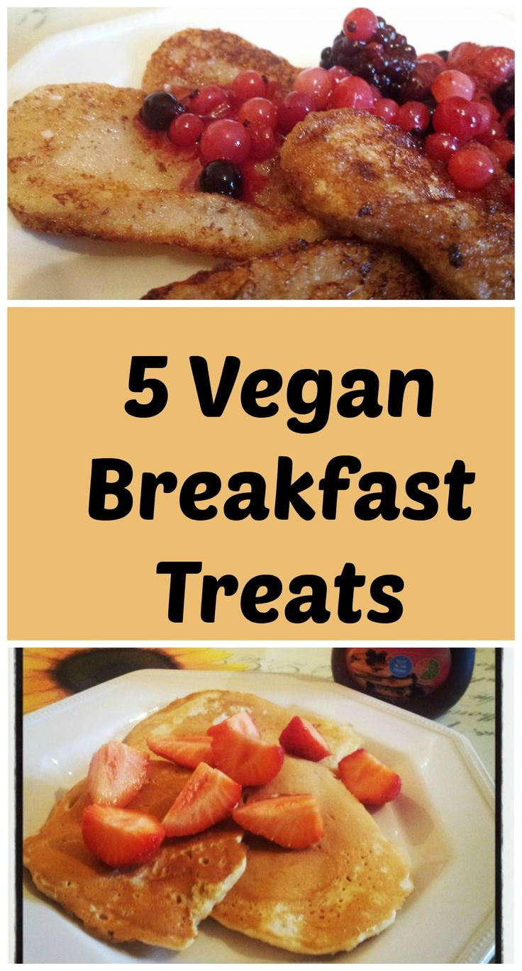 Vegan breakfasts don't have to be boring. Check out these 5 vegan brakfast treats including vegan pancakes, churros and vegan french toast.