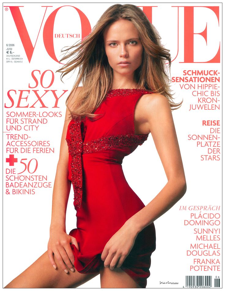 VOGUE GERMANY JUNE, 2006 COVER WITH NATASHA POLY