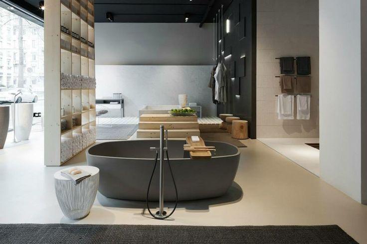 NEUTRA Flagship Store in milan - water_wellness_stone. #bathroom #spa #design #bathtube