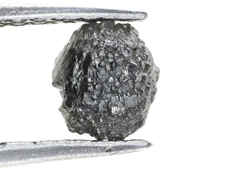 1.29 ct. Black Color Round Shape Natural Rough Raw African Diamond