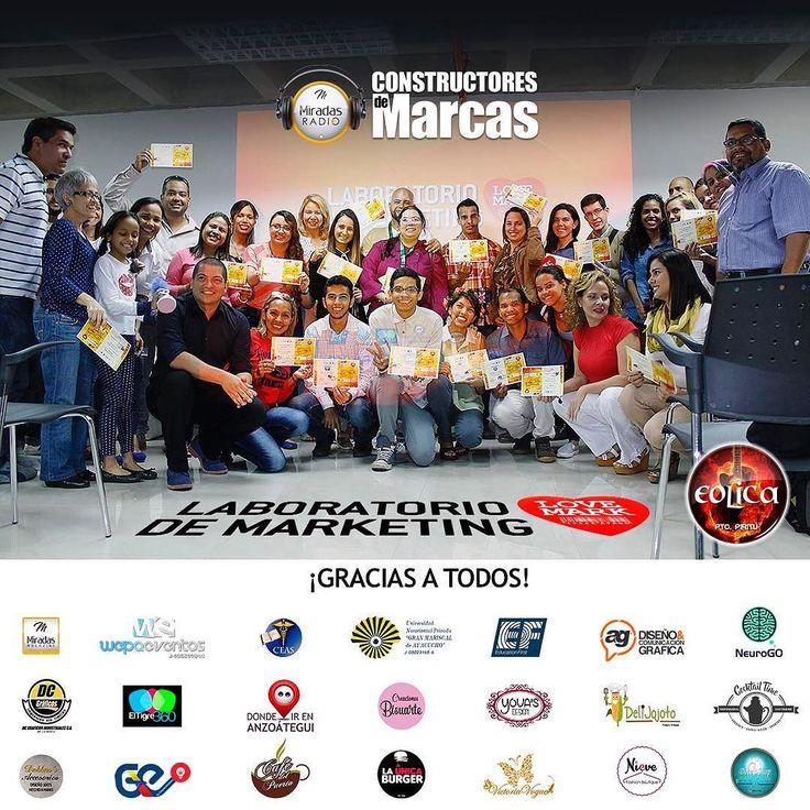 En nombre del equipo del #LaboratoriodeMarketing @miradasmagazine  y @wepa_eventos les damos gracias a todos por la confianza y el apoyo en el proyecto #ConstructoresdeMarcas. Nos llena de orgullo tanto tal nto y ganas de hacer cosas maravillosas en nuestro hermoso estado Anzoátegui.  #MiradasMagazine #MiradasRadio #RutaGourmet #Miradas #Anzoategui #Mochima #Lecheria #Turismo #Gastronomia #Arte #Mercadeo #Tecnologia