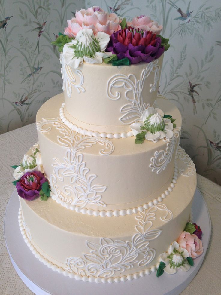 buttercream wedding cake 25 best ideas about lace wedding cakes on 12267