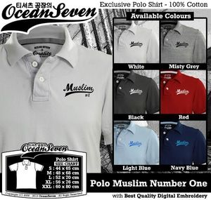 Baju Kaos Kerah Muslim - Polo Muslim Number One. PIN BB: 26460DF6