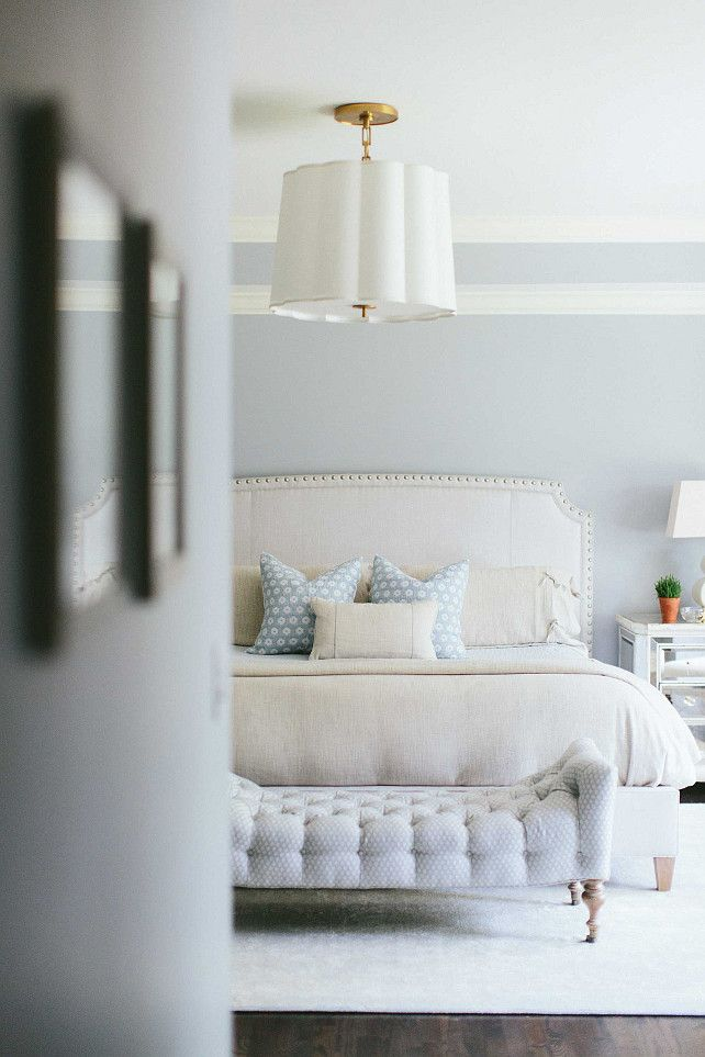 #GreyMasterBedroom #GreyMasterBedroomPaintColor Kate Marker Interiors.