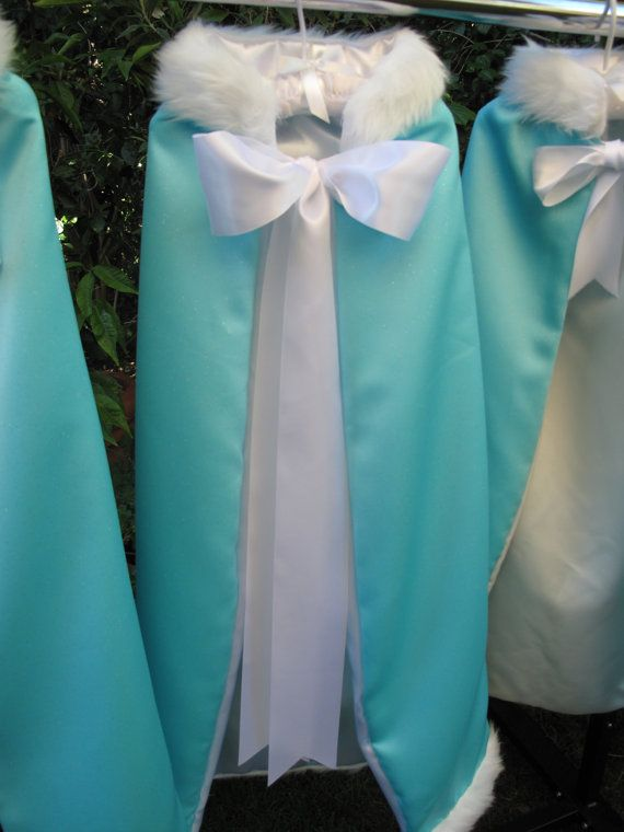 Little girls will love dressing up as a Queen or Princess with this Frozen inspired Elsa Cape.