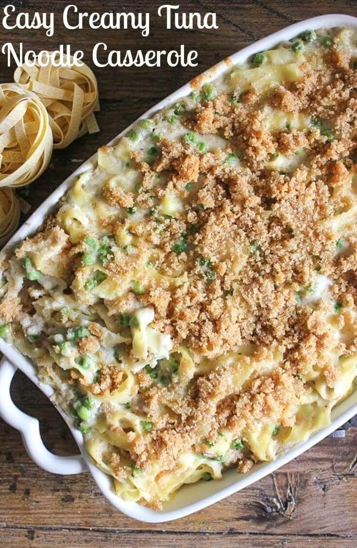 Easy Creamy Tuna Noodle Casserole, quick, easy, healthy and so creamy ...