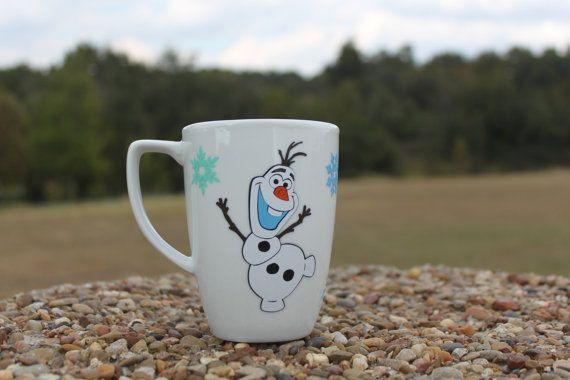 Olaf mug 12 oz. by HannahsLilHobby on Etsy