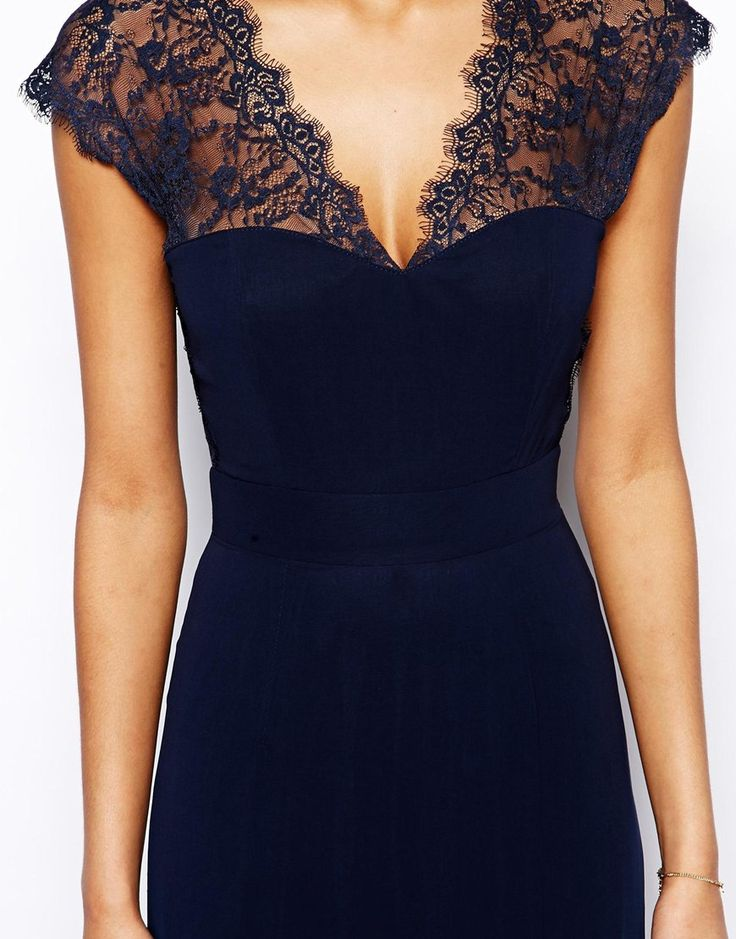 Image 3 - Elise Ryan - Maxi robe avec dos en dentelle festonnée