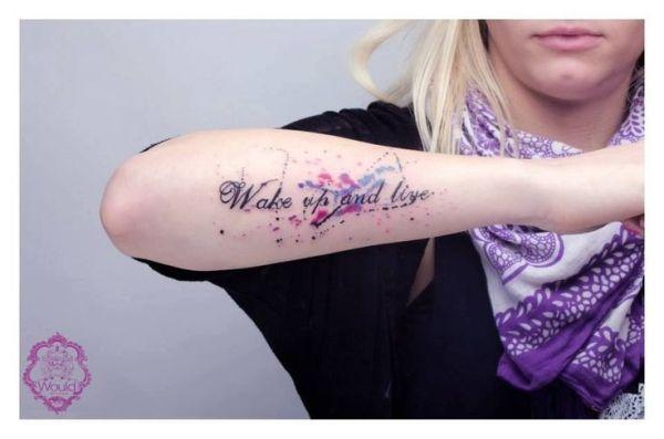 Paint splatter tattoo by jenniferET