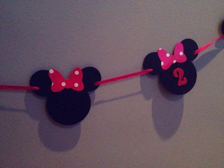 Pink black Minnie girland