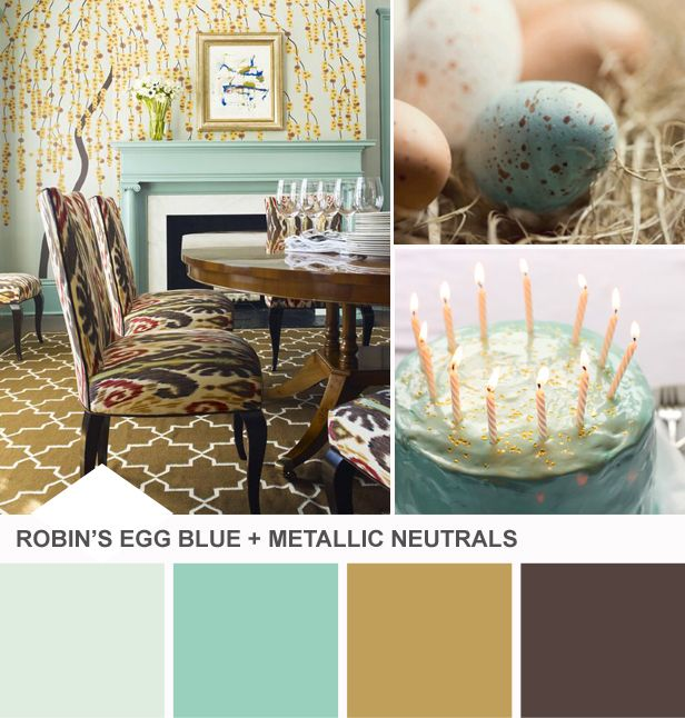 Robin's Egg Blue Dining Room Color Palette