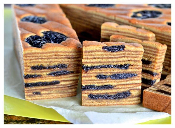 Japanese Layered Cake Recipe: Indonesian Medan Food: Lapis Legit Prune / Kue Spekkoek