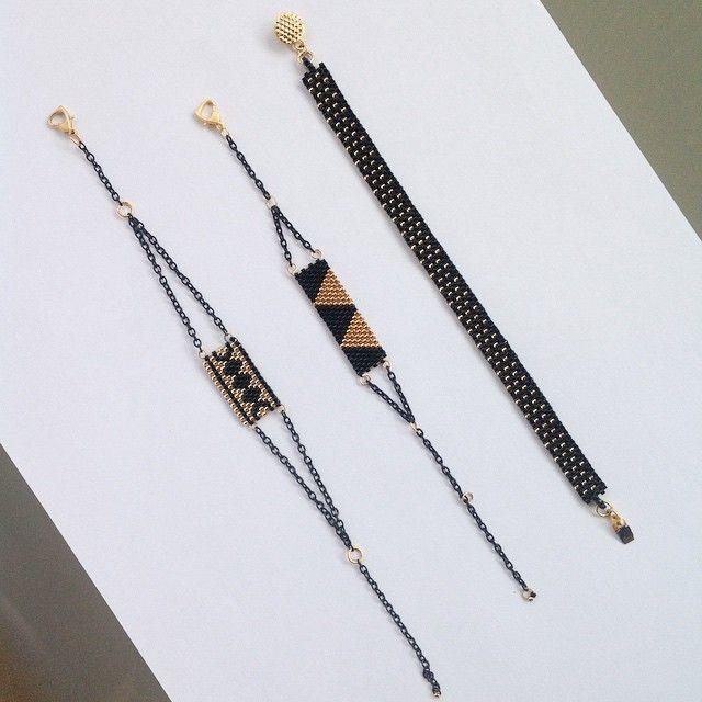 #miyuki #bileklikler #bracelets #black & #gold #fashion #stylish #kışkoleksiyonu #instamood #instagood #instalike #instagram #follow #instajewelry #jewelery #design #tasarim #fashioninsta #instacool