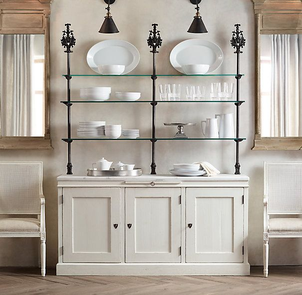 Glass Shelves Kitchen Cabinets: Inspiration -- Use Bottom Of Current China Cabinet, Remove