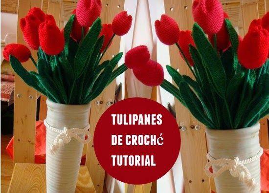 tulipanes de crochet para el dia de la madre