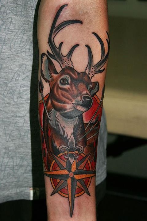 Scenic Deer Tattoo Women Deer-Tattoos-For-Men