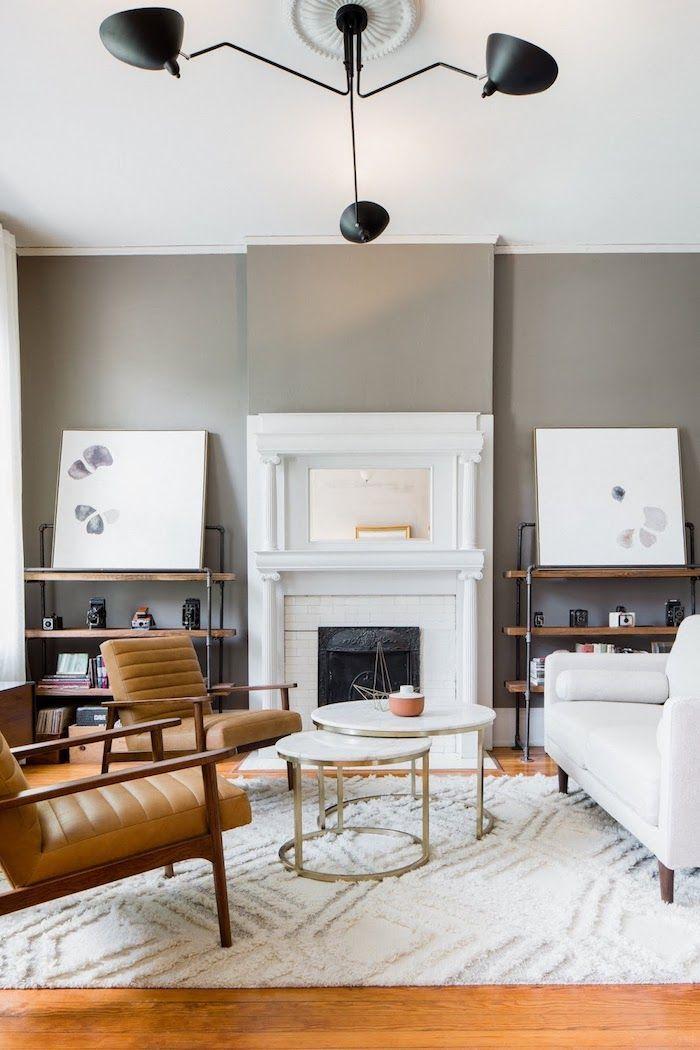 Decoration salon contemporain deco cocooning séjour fonctionnel et ...