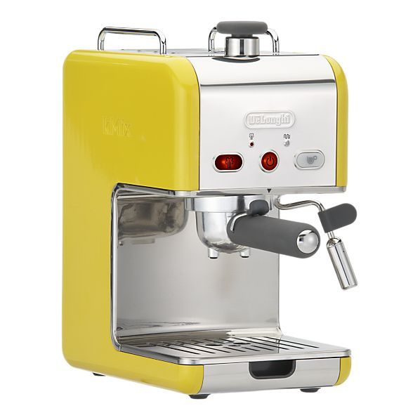 Spring-colored DeLonghi kMix Pump Espresso Maker from Crate & Barrel. Add it to your registry and link & sync it!