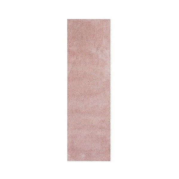 Rose Pink Solid Shag or Flokati Runner - ($133) ❤ liked on Polyvore featuring home, rugs, pink, flokati shag rug, rose rug, kas rugs, pink shag rug and pink shag area rug