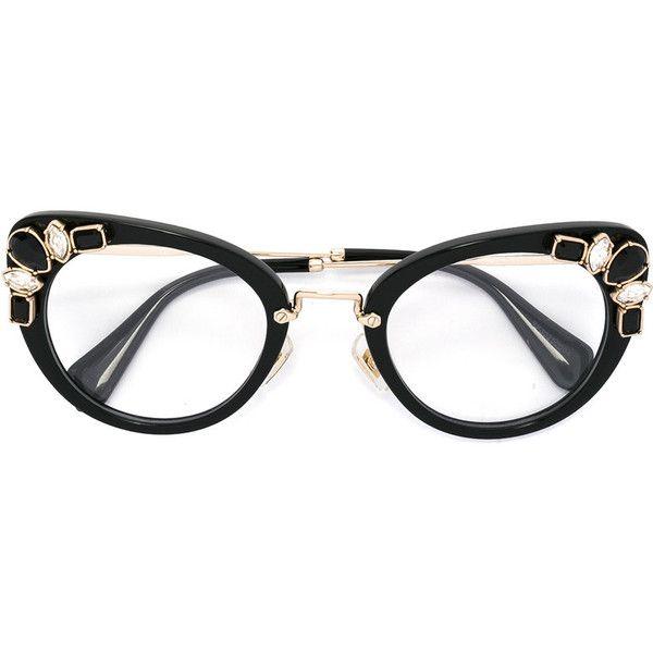 miu miu eyewear cat eye glasses 452 liked on polyvore featuring accessories - Miu Miu Eyeglasses Frames