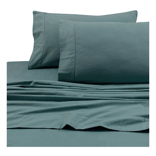 Marwah Aqua 200-GSM Flannel Sheet Set ($48) ❤ liked on Polyvore featuring home, bed & bath, bedding, bed sheets, flannel fitted sheet, flannel flat sheet, flannel pillowcases, aqua blue sheet set and aqua blue bedding