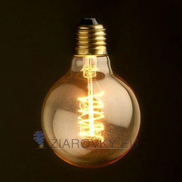 EDISON žiarovka – SPIRAL SHINES – E27, 40W