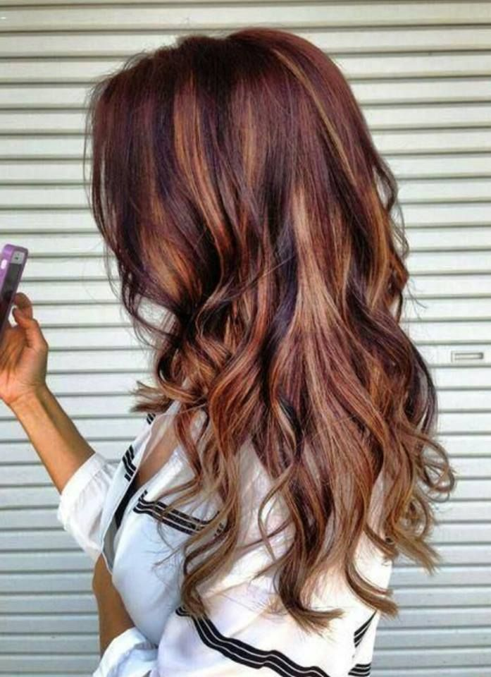 The 25 best full head highlights ideas on pinterest full head brown auburn mix gorgeous hair full head remy clip in human hair extensions medium pmusecretfo Choice Image