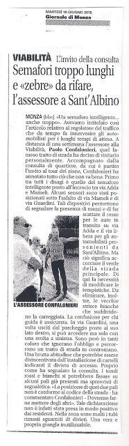 COMITATO DI QUARTIERE S.ALBINO (MONZA): PROBLEMI A S.ALBINO (4) - SEMAFORI E ZEBRE