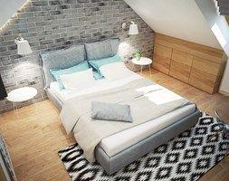 Aranżacje wnętrz - Sypialnia: Projekt sypialni na poddaszu - Średnia sypialnia dla gości małżeńska na poddaszu, styl industrialny - Mart-Design Architektura Wnętrz. Przeglądaj, dodawaj i zapisuj najlepsze zdjęcia, pomysły i inspiracje designerskie. W bazie mamy już prawie milion fotografii!