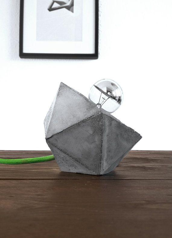 Cubistic Concrete Lamp van blokk op Etsy