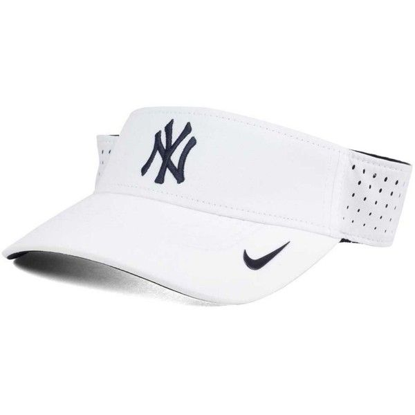 Nike New York Yankees White Dri-fit Visor ($26) ❤ liked on Polyvore featuring accessories, sun visor and nike