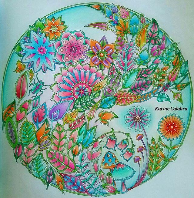 Mandala Enchanted Forest By Karine Calabra