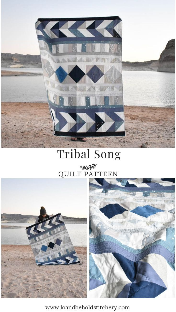 Tribal Song Quilt Pattern Scrappy Modern Quilt Quilt