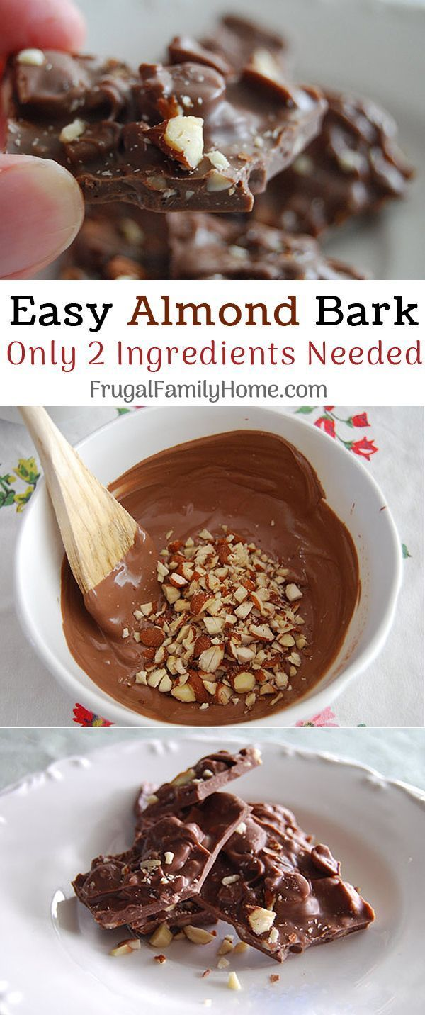 easy 2 ingredient almond bark this homemade almond bark candy rh pinterest com
