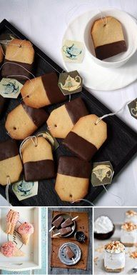 Love these cute winter Tea cup cookies. Could be a great addition to a high tea party!