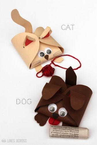 Cute Dog and Cat Paper Gift Boxes