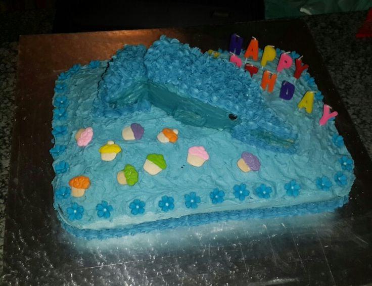 Dolfin class birthday cake for the teacher.