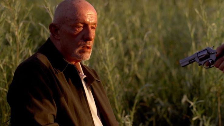 "Mike Ehrmantraut~` shot by Walt.  Mike was about to ride off into the sunset, but got  into an argument with Walter about giving up the names of his men in prison. Mike also blamed Walt for Gus' death, saying they had a good thing going when Gus was in charge. ""You, and your pride and your ego! You just had to be the man! If you'd known your place, we'd all be fine right now!, Then, Mike's dying words: ""Shut the f--k up. Let me die in peace."""