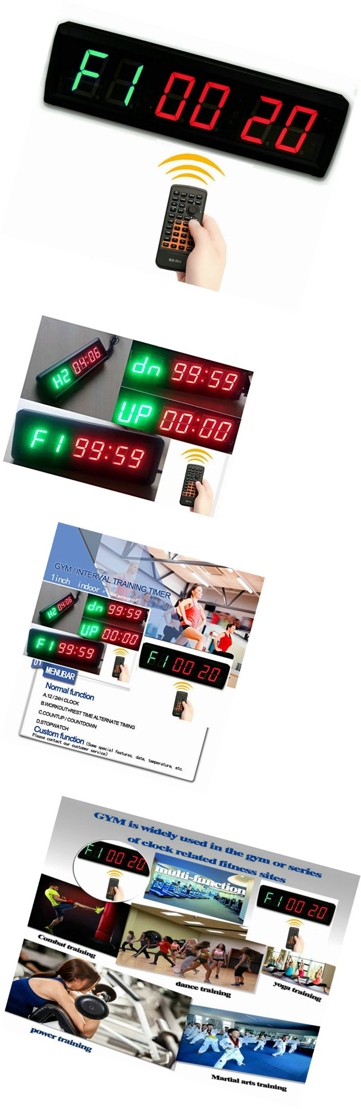 Stopwatches 166149: Suoloung 1.5 High 6 Digits Led Countdown Up Clock For Tabata , Gym Boxing, Em -> BUY IT NOW ONLY: $81.39 on eBay!
