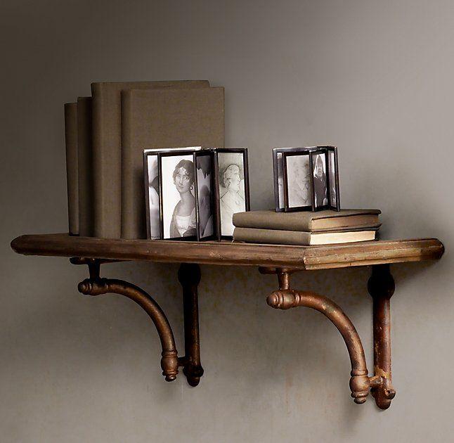 Arc Bracket & Wood Shelf