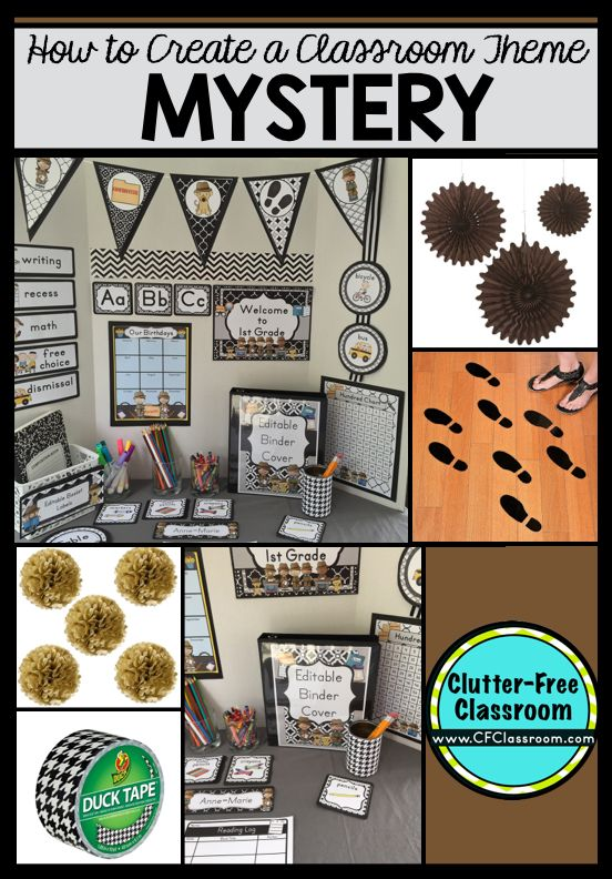 Are you planning a Mystery Detective themed classroom or thematic unit? This blog post provides great decoration tips and ideas for the best Mystery Detective theme yet! It has photos, ideas, supplies