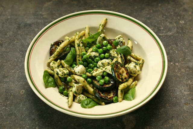 pasta with roasted zucchini (in Dutch)