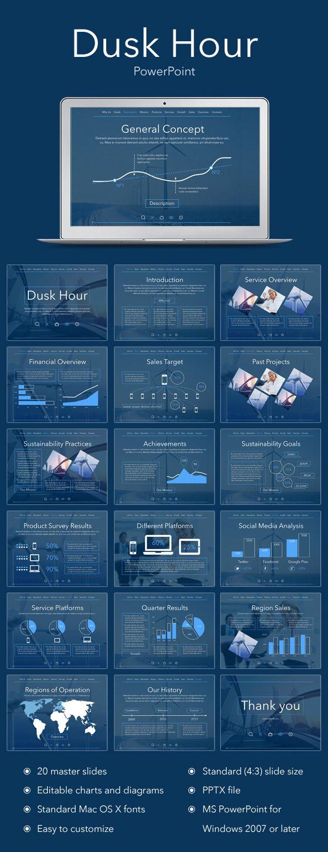 Dusk Hour PowerPoint Template #design Download: http://graphicriver.net/item/dusk-hour-powerpoint-template/11767124?ref=ksioks