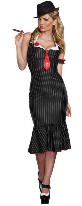 Sexy Gangster Women's Costume
