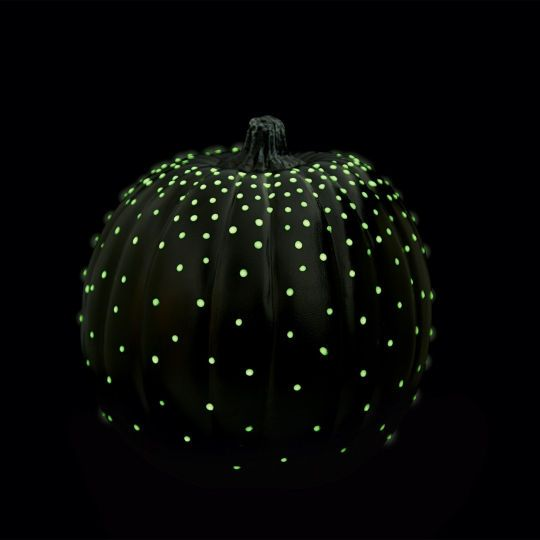 Your pumpkins will give an eerie glow on your front porch with Glo-in-the-Dark™ paint!