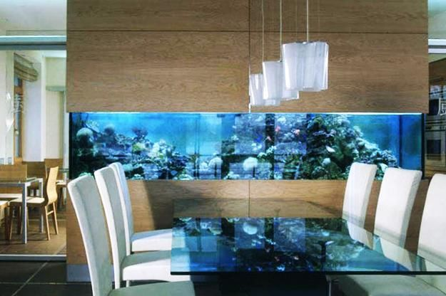 35 unusual aquariums and custom tropical fish tanks for for Fish tank in wall