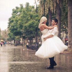 Je zou haast regen wensen op je trouwdag!